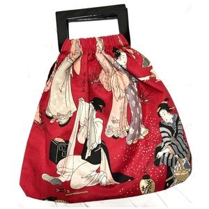 Grace Chuang Oriental Style Tote, Plastic Handles